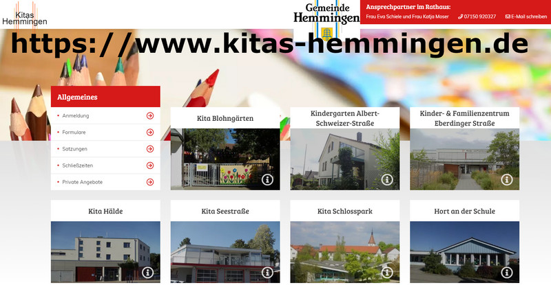 Homepage Kinderbetreuung in Hemmingen